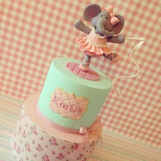 Elephant Ballerina cake