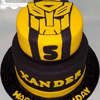 BumbleBee Transformers - Cake by Sugar Sweet Cakes