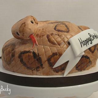 Rattlesnake Birthday Cake