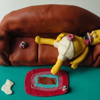 Homer simpson cake - Cake by Paladarte El Salvador