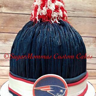 New England Patriots PomPom Hat Cake