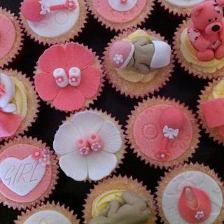 Girly Baby Shower Cupcakes :)