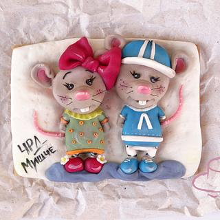 Mouse in love - Cake by Diana