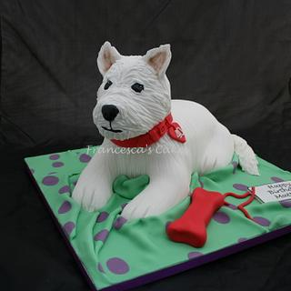 Westie Dog - Cake by Francesca's Cakes