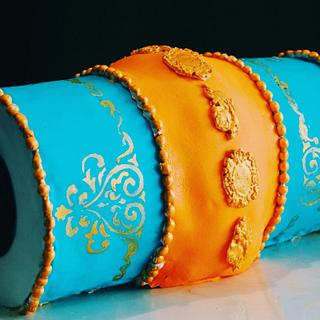 Indian Dholki theme cake