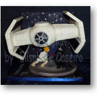 Flying Darth Vader's Ship - Star Wars