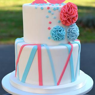Streamers, Confetti and Pom-Poms - Cake by Elisabeth Palatiello