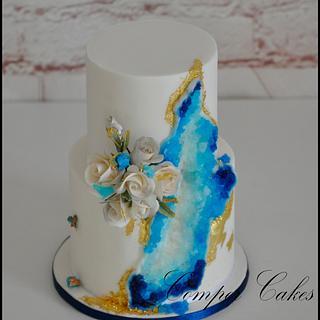 Perth Royal Show 2016 miniature wedding cake - silver