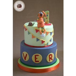 Mic first birthday cake by Mericakes - Cake by Mericakes