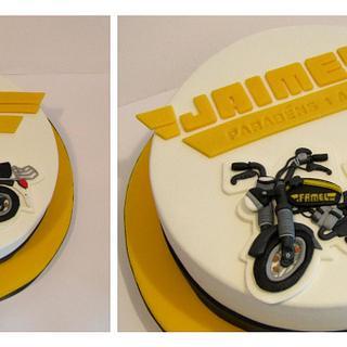 Vintage Motorcycle Cake