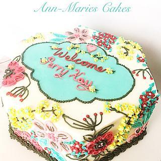 Pattern inspired. Baby shower Cake
