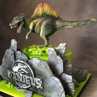 Jurassic Spinosaurus Cake
