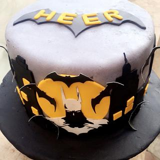 Batman rising cake