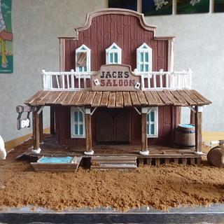 Saloon Cake - Cake by bitemecakes
