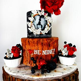 My Giant Red Rose Cake