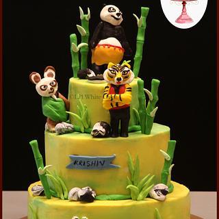 Kung Fu Panda - Cake by Gauri Kekre