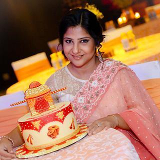 Band, baja and palki !  - Cake by Somoshree Khandekar
