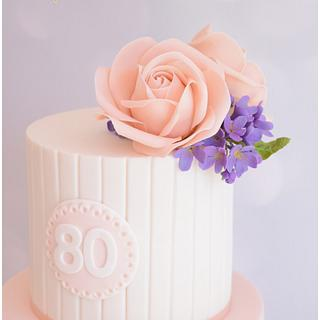 Roses & Violets - Cake by Dollybird Bakes