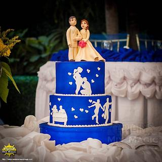 Our Story  - Cake by Joy Lyn Sy Parohinog-Francisco