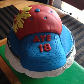 Baseball Cap Cake!