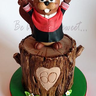 Academic Beaver Cake
