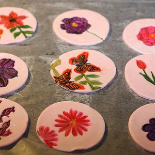Hand Painted Cupcake Toppers