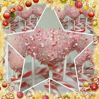 Christmas cake pops - Cake by CakesbyCorrina