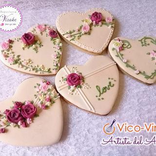 Set Wedding hearts