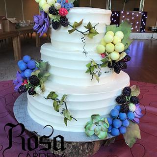Wedding grapes cake