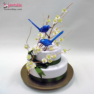 Blue Birds & Cherry Blossoms