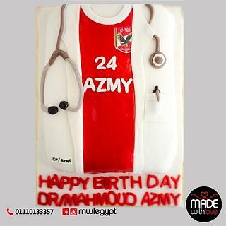 doctor &football lover  cake