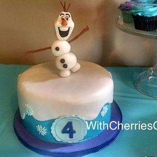Olaf Cake - Cake by WithCherriesOnTop
