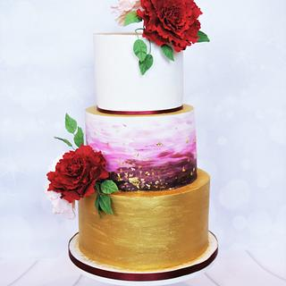 Bold Winter Wedding Cake