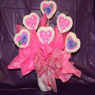 Cookie Bouquet  - Cake by TriciaH