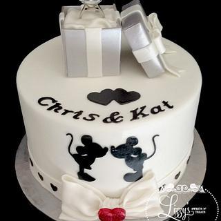 Disney Engagement cake