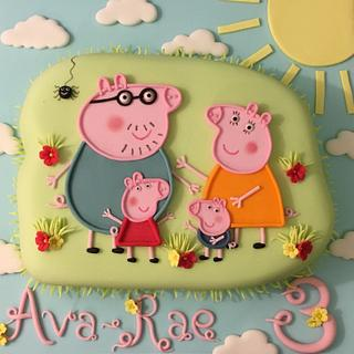 Peppa pig and family  - Cake by Shereen