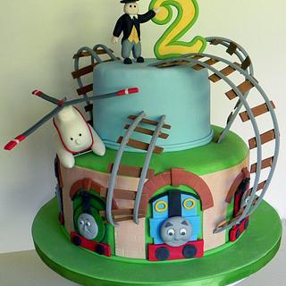 Thomas the Tank Engine - Cake by Kara's Couture Cakes