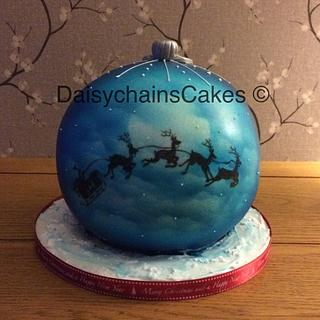 Bauble cake