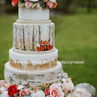 Woodland cake from photo shoot