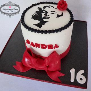 Marilyn Monroe  - Cake by Delight for your Palate by Suri