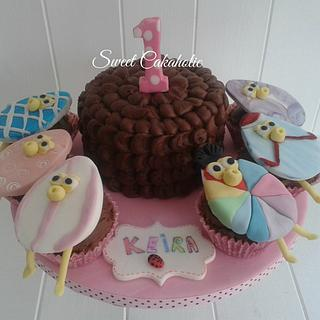 Grand daughter's 1st birthday  - Cake by SweetCakeaholic1
