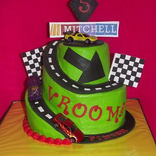 Race Car Cake! - Cake by Jacque McLean - Major Cakes