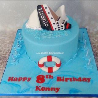 Kids Titanic Cake