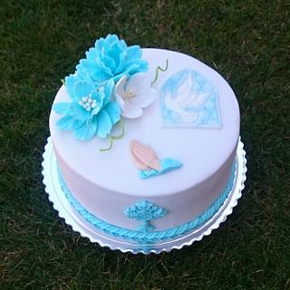 Comfirmation cake for boy