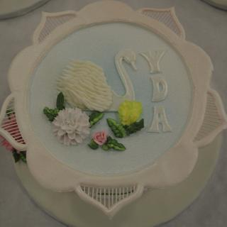 Piping works with royal icing - Cake by Yvonnes Custom Cakes