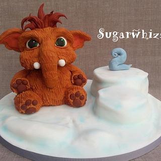 Ice Age baby Ellie - Cake by Sugarwhizz