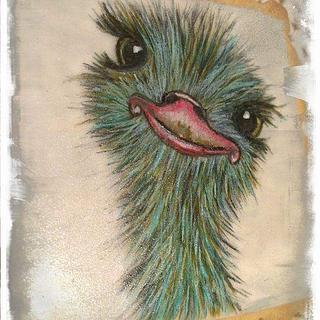 Mi simpatica avestruz os quiere llenar de sonrisas.