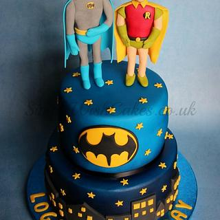 Batman and Robin - Cake by Stef and Carla (Simple Wish Cakes)