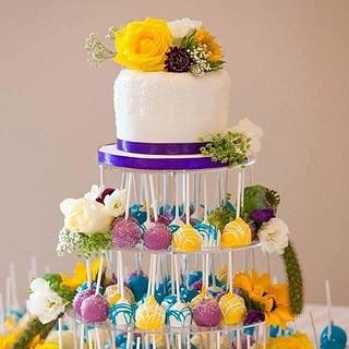 Spring Cake Pop Tower