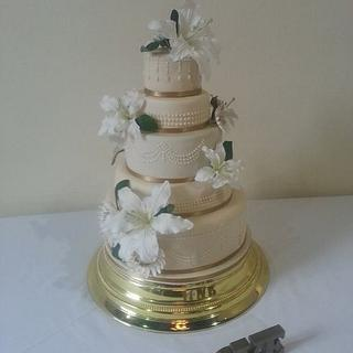 Daughters Wedding - Cake by Carole's Cakes